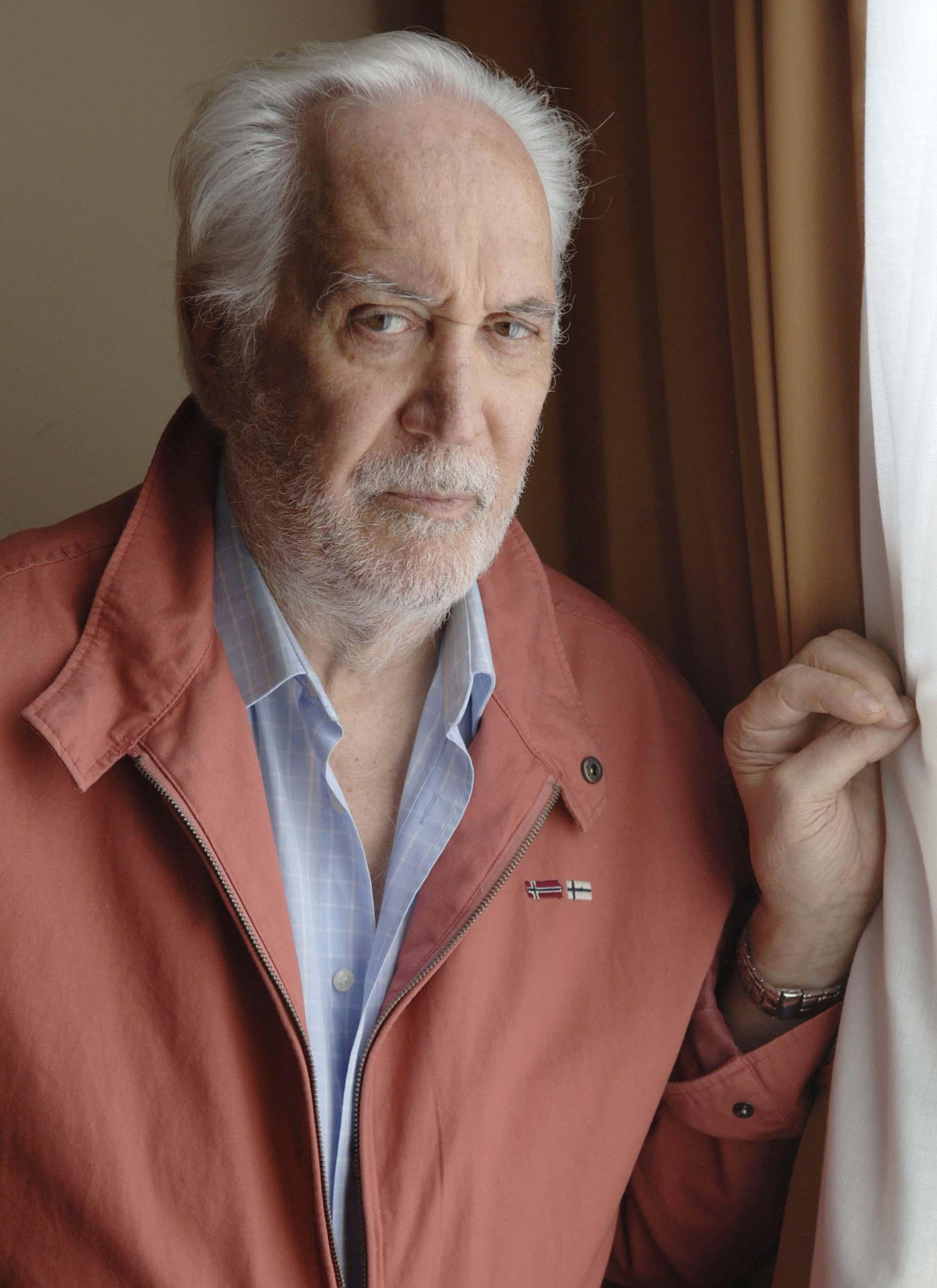 Federico Luppi en el Festival de San Sebastián, promocionando la película La Distancia