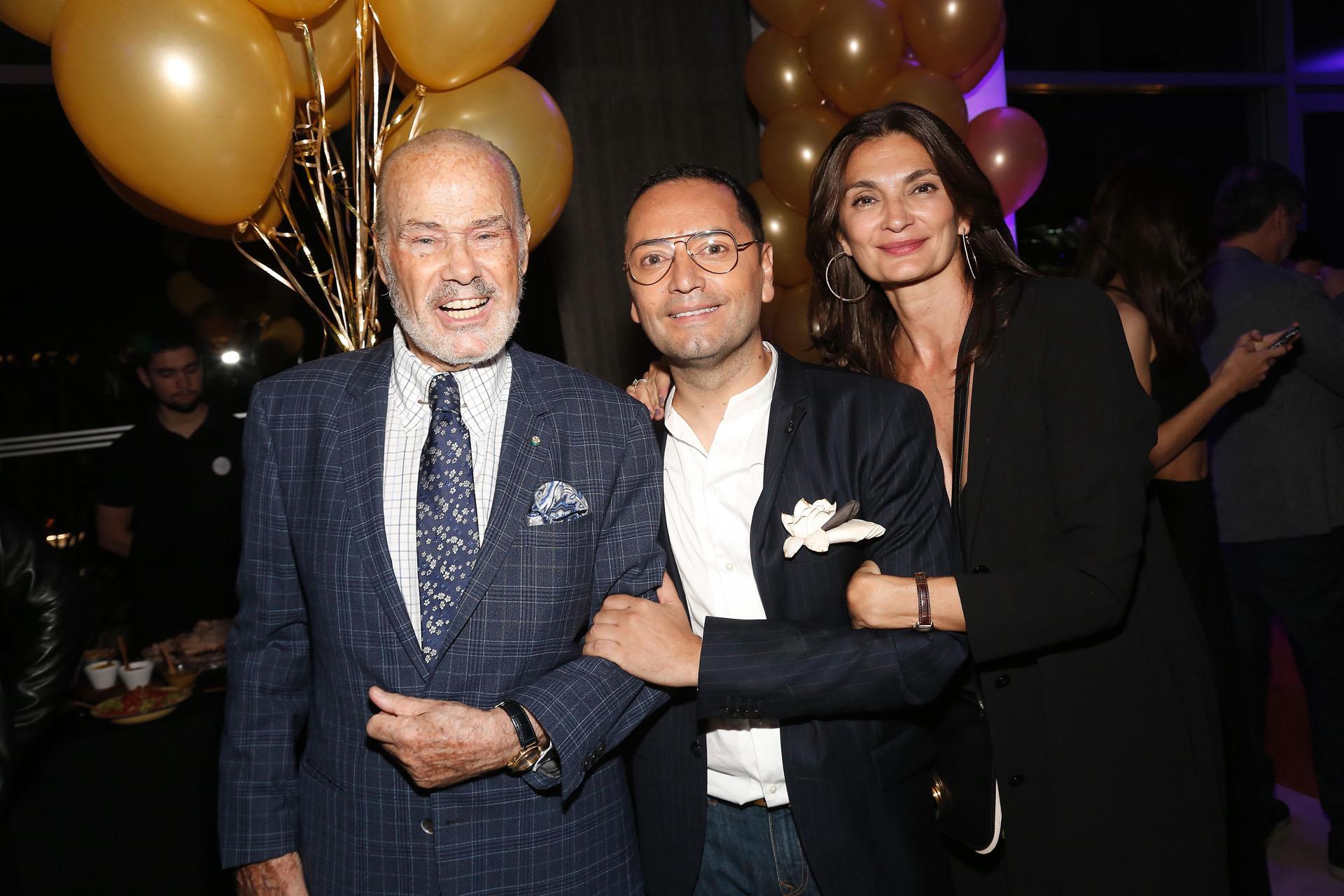 Gino Bogani, Fabián Medina Flores y Mariana Arias