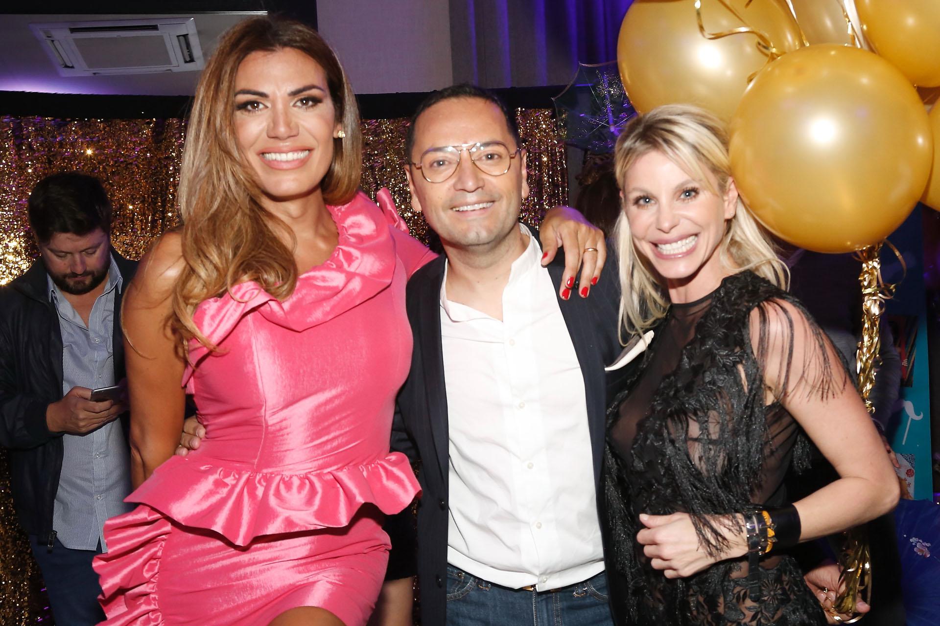 Flor de la V y Jimena Cyrulnik estuvieron entre las invitadas a la gran fiesta de cumpleaños de Fabián Medina Flores