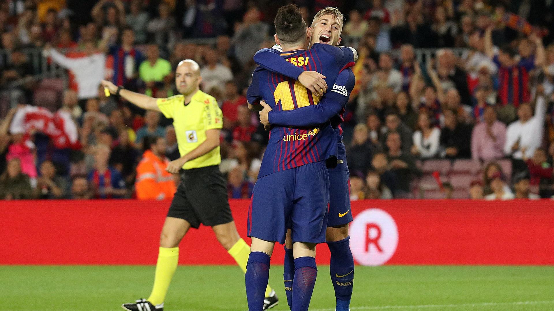 (REUTERS) Gerard Delofeu debutó en Barcelona con 17 años