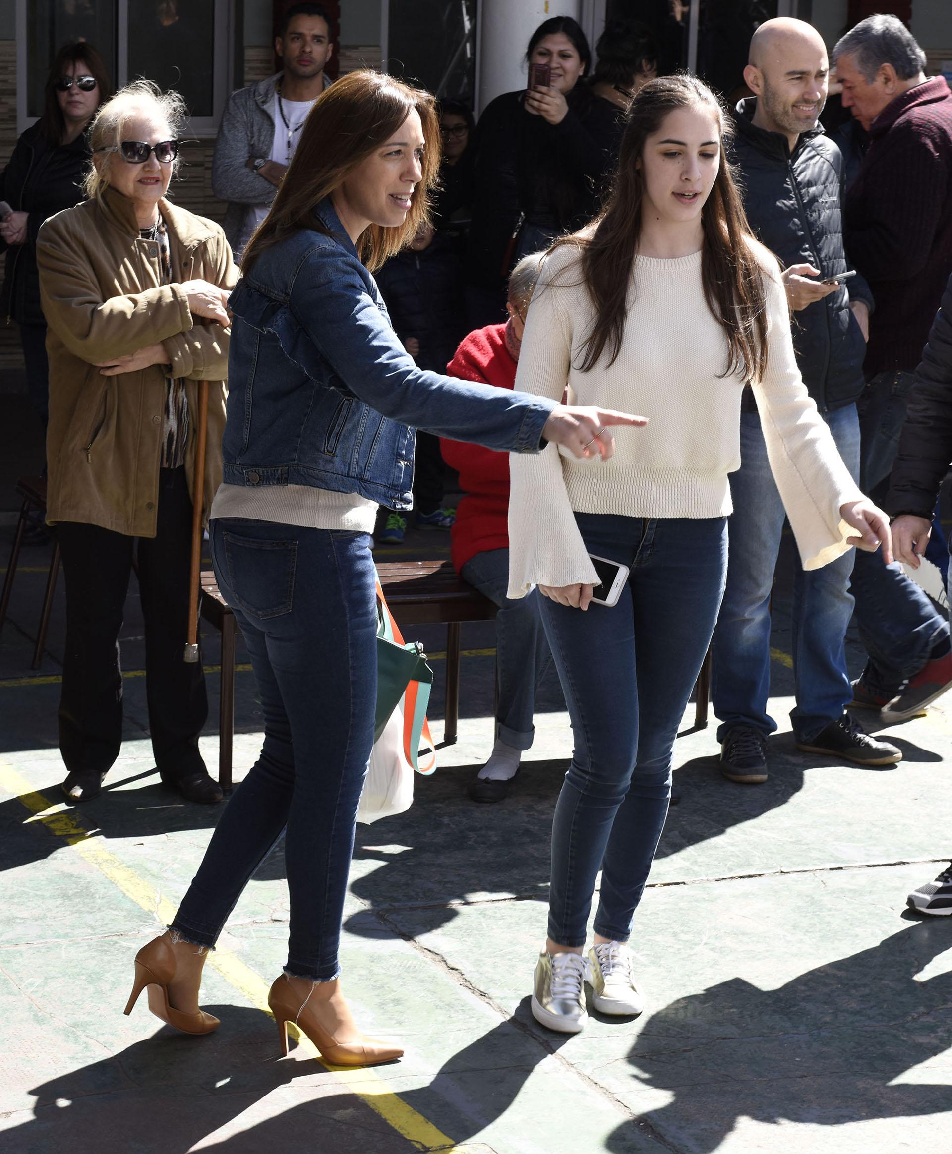María Eugenia Vidal y su hija Camila. Foto: Matías Campaya/GENTE