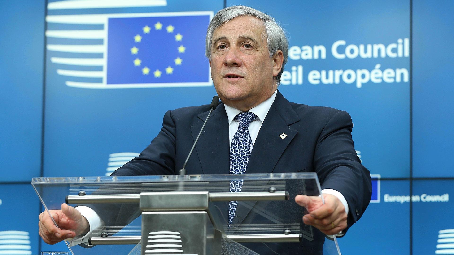 Antonio Tajani, presidente de la Eurocámara (Getty Images)