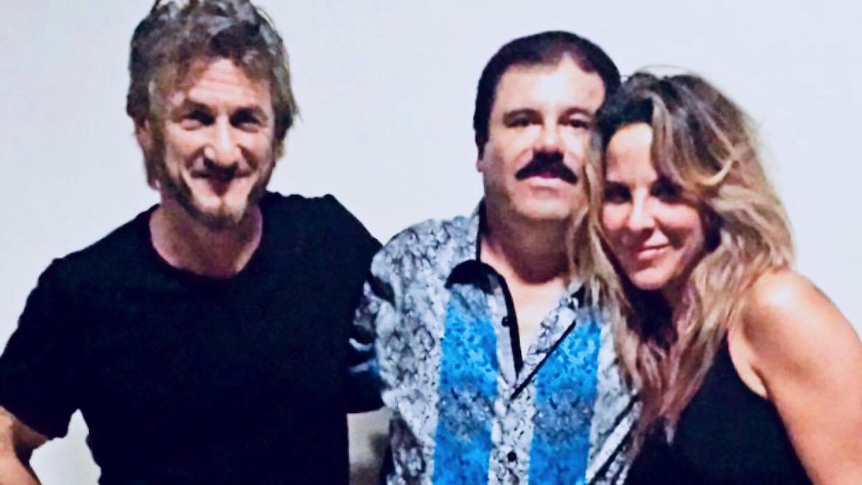 """""""El Chapo"""" Guzmán con Sean Penn y la actriz mexicana Kate Del Castillo, el encuentro que posibilitó su captura"""