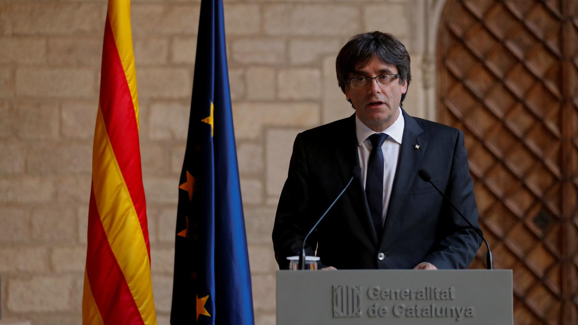 Puigdemont al anunciar que no llamaría a elecciones