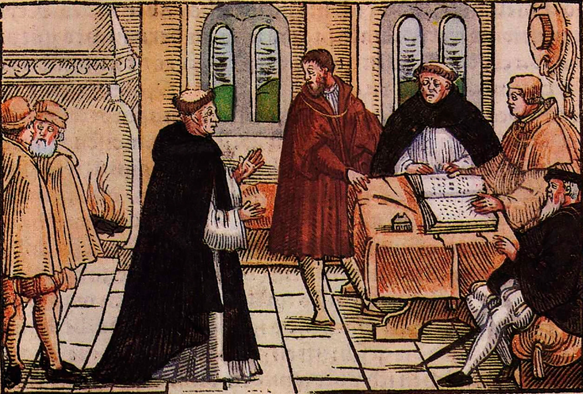 Lutero comparece ante las autoridades eclesiásticas, en 1518
