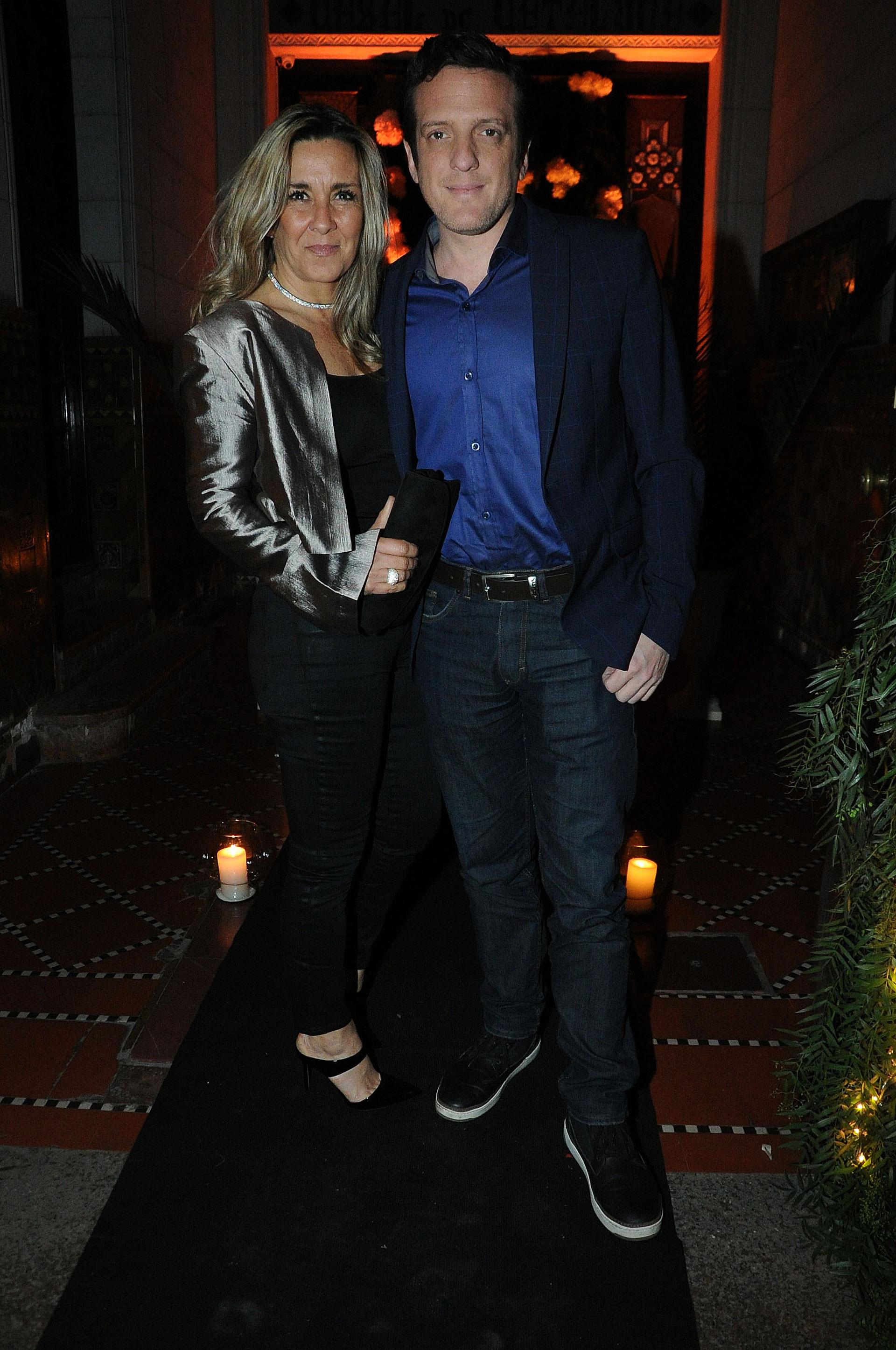 Mauro Szeta y su pareja