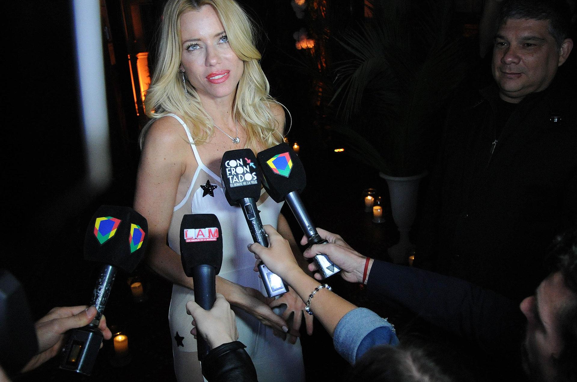 La ex de Fabián Cubero habló con los medios en medio de la celebración