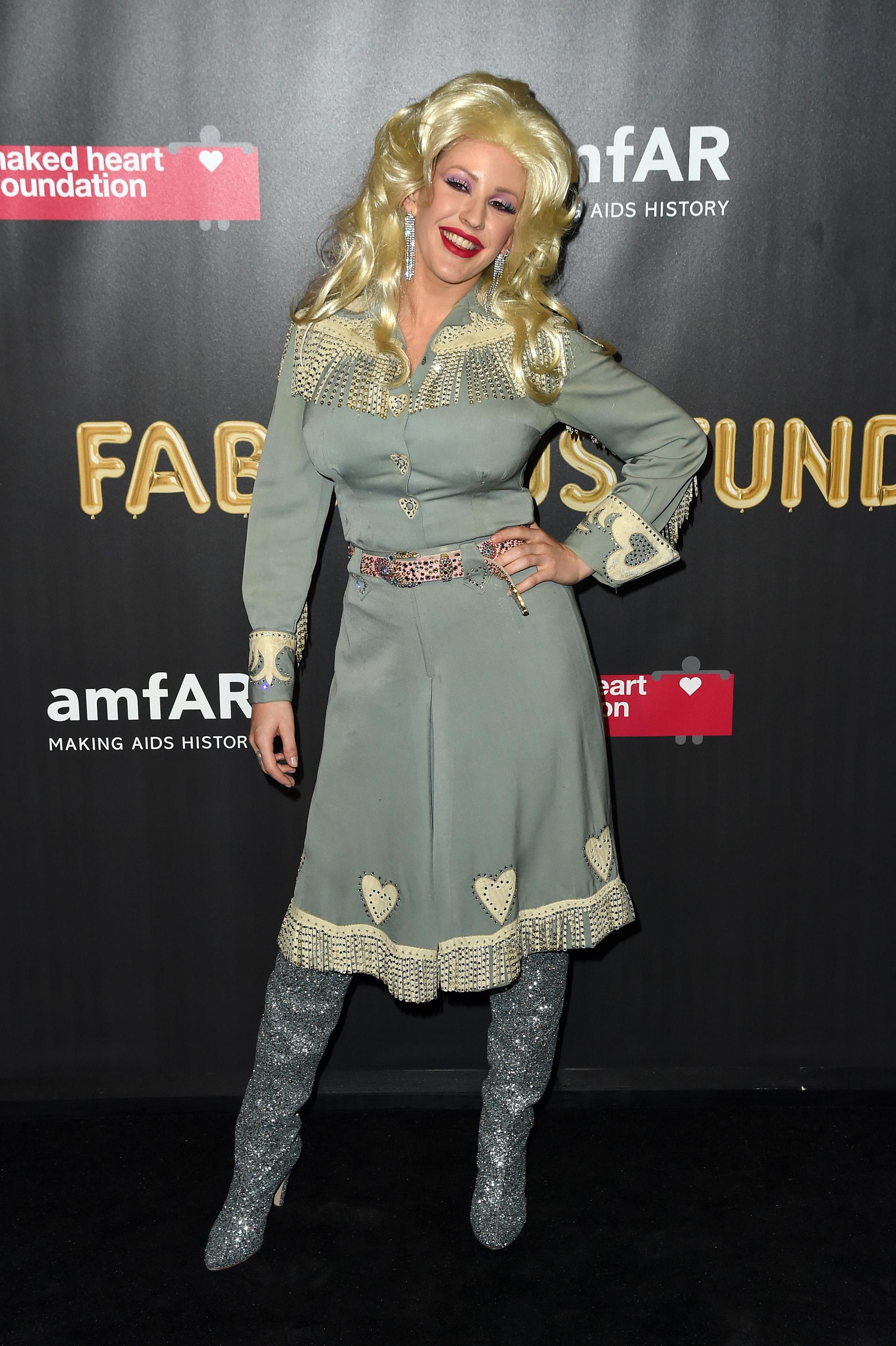 La cantante Ellie Goulding quiso imitar a una de sus ídolas, Dolly Parton(Photo by Nicholas Hunt/Getty Images)