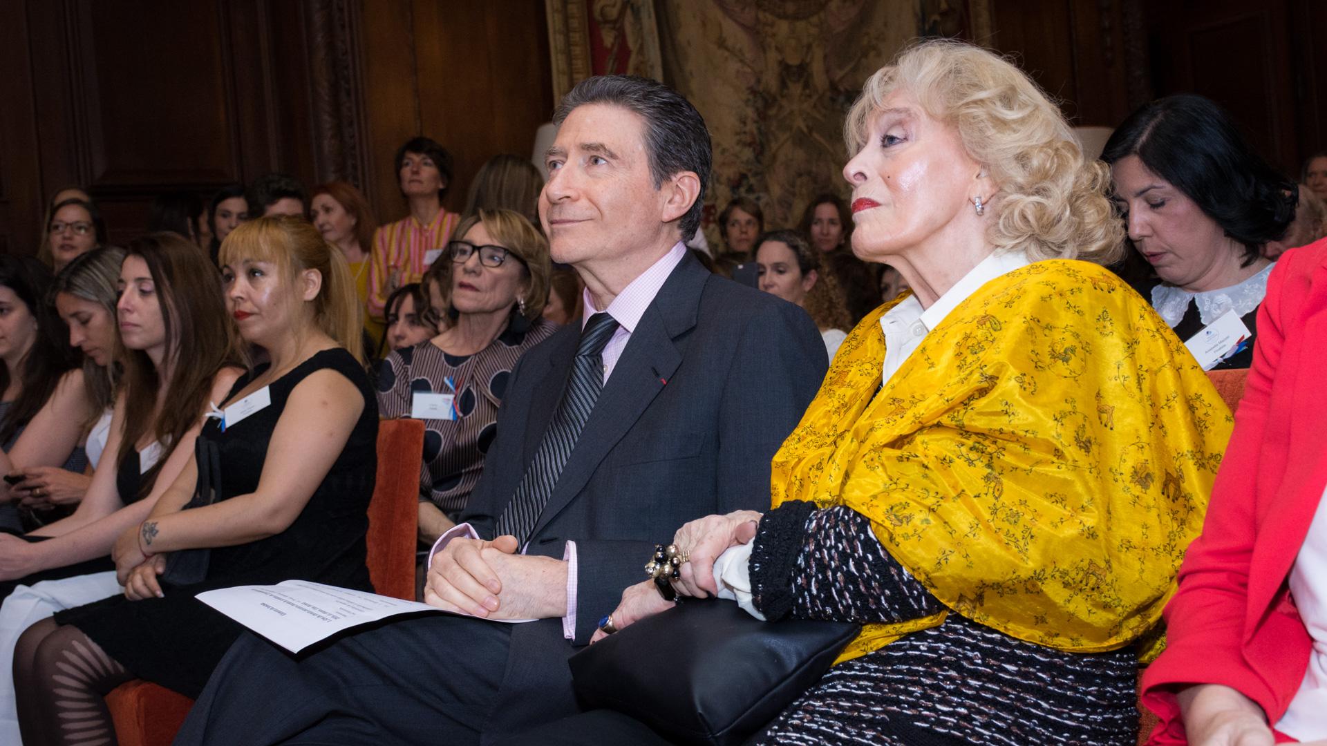 El embajador de Francia en Argentina, Pierre Henri Guignard junto a su mujer Marie-Carmen Boué- Guignard