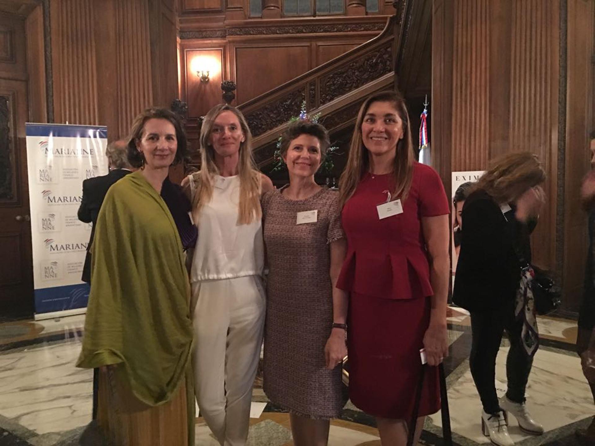 Dominique Biquard, Eugenia Botta, Margarita Melo de Vaquer y Silvia Taurozzi, las cuatro presidentes de Marianne desde el inicio de la asociación en 2010