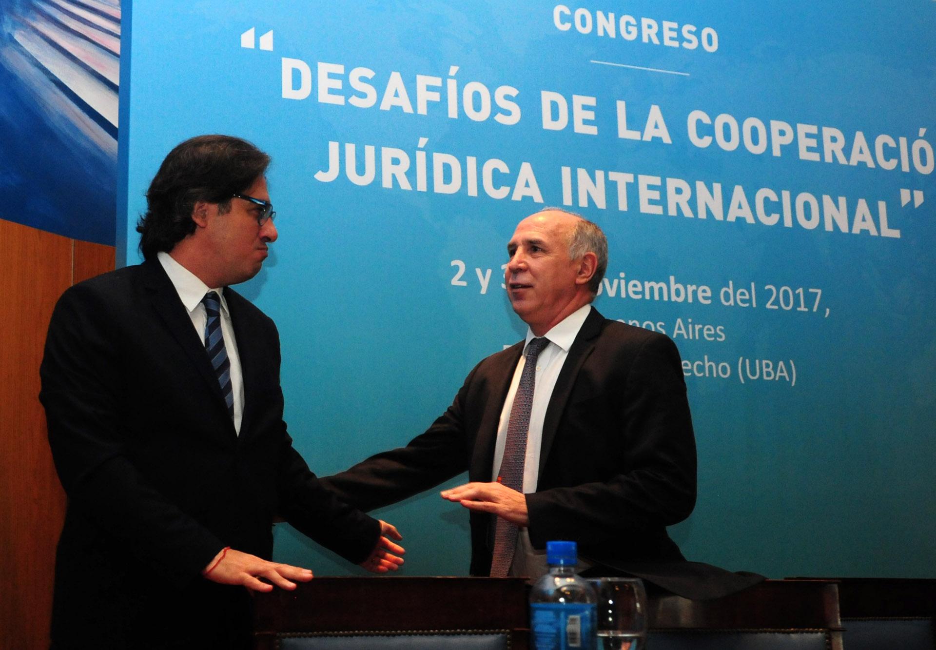 El ministro de Justicia, Germán Garavano, y el presidente de la Suprema Corte de Justicia, Ricardo Lorenzetti (Maximiliano Luna)