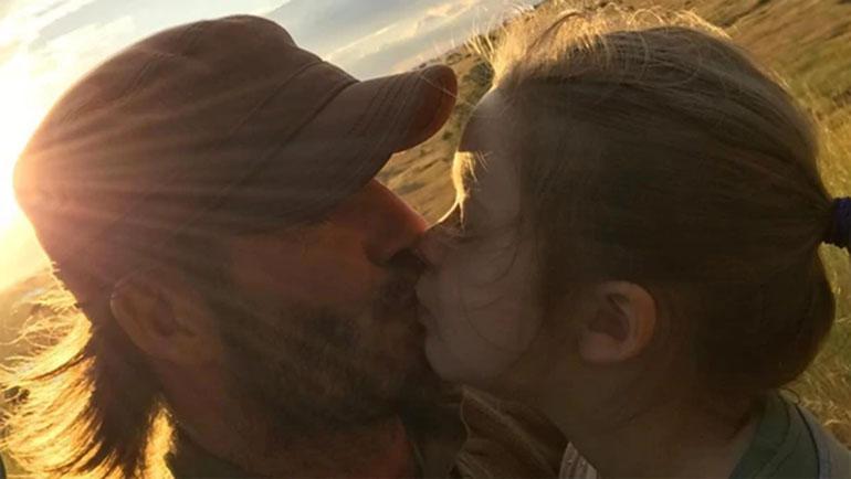 El beso entre David Beckham y su hija Harper se viralizó