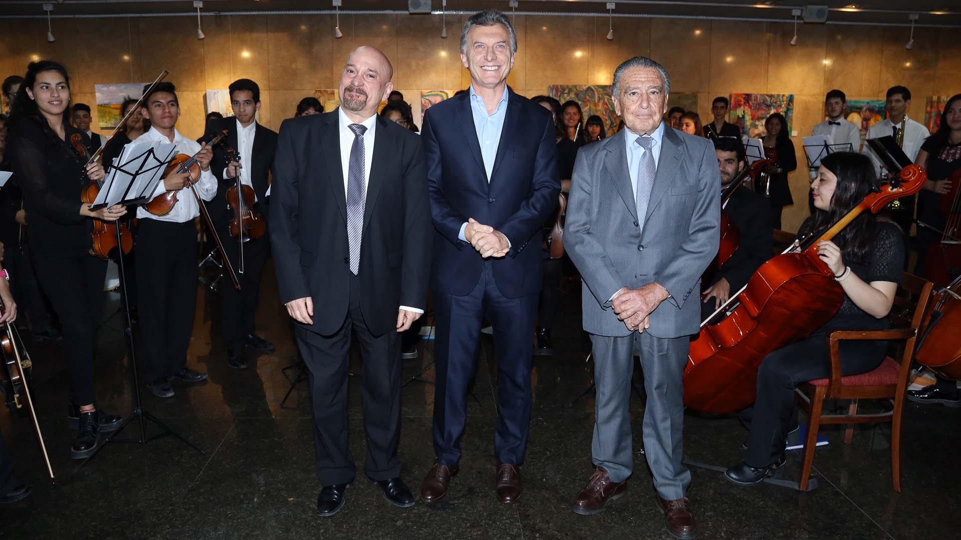 Néstor Tedesco, Mauricio Macri y Eduardo Eurnekian