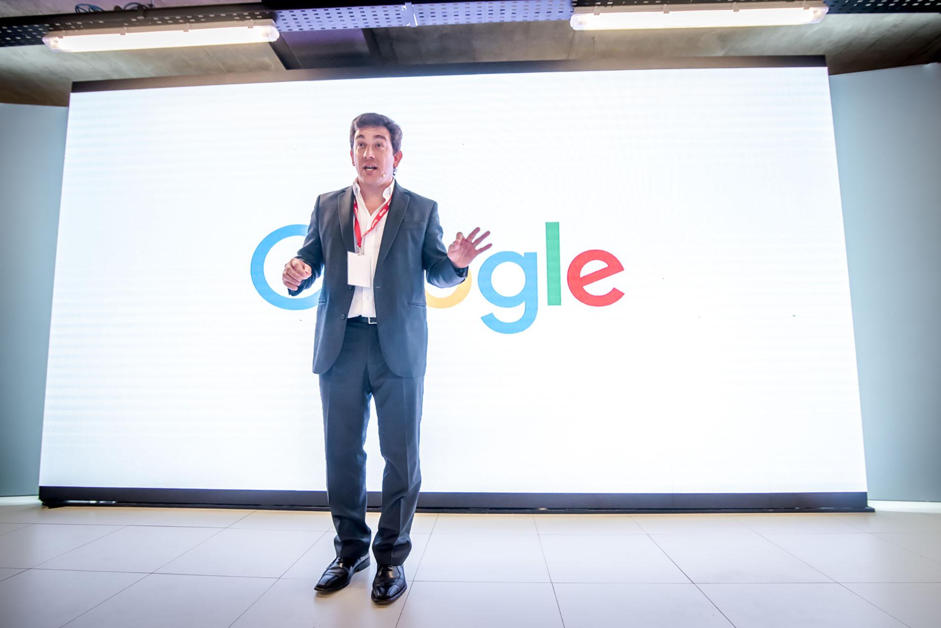 Federico Procaccini, director general de Google Argentina, en el evento que se hizo por los 10 años de la compañía en Argentina.
