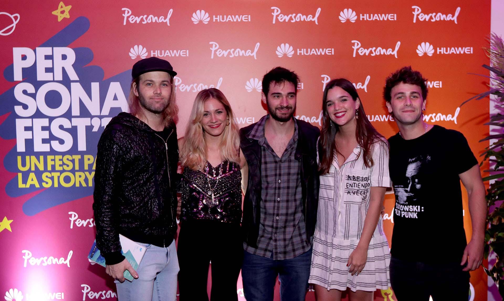 Benjamín Amadeo (que tocará en el festival), Rocío Igarzábal, Malena Ratner y Gastón Vietto