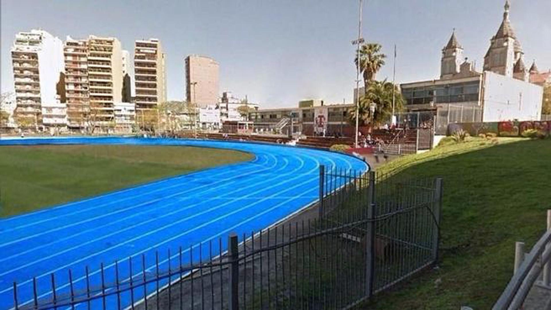 Así lucirá la nueva pista de altletismo cuando esté concluída (GCBA)