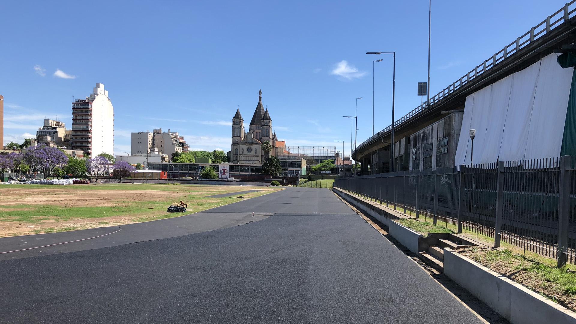 Así luce la pista hoy, con los últimos avances en su construcción