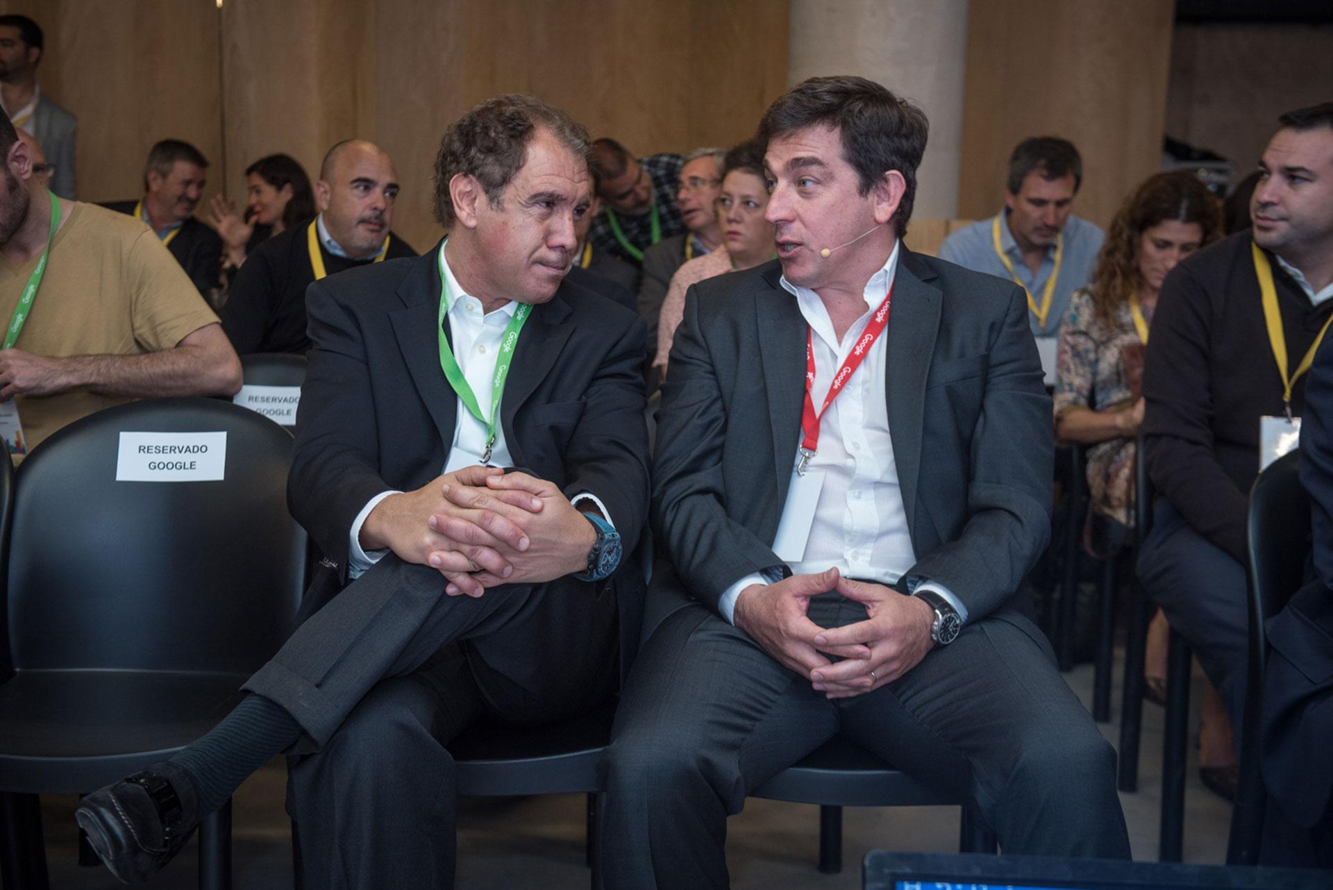 Daniel Hadad, fundador de Infobae, dialoga con Fernando Procaccini, director general de Google Argentina