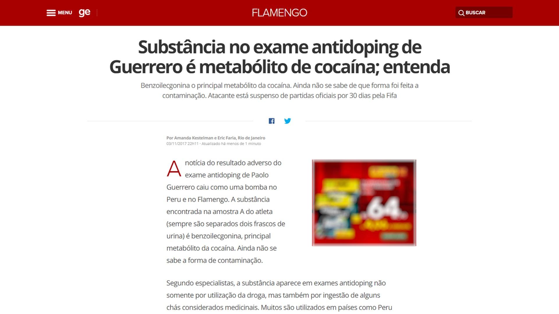 La nota que publicó el medio brasileño O'Globo