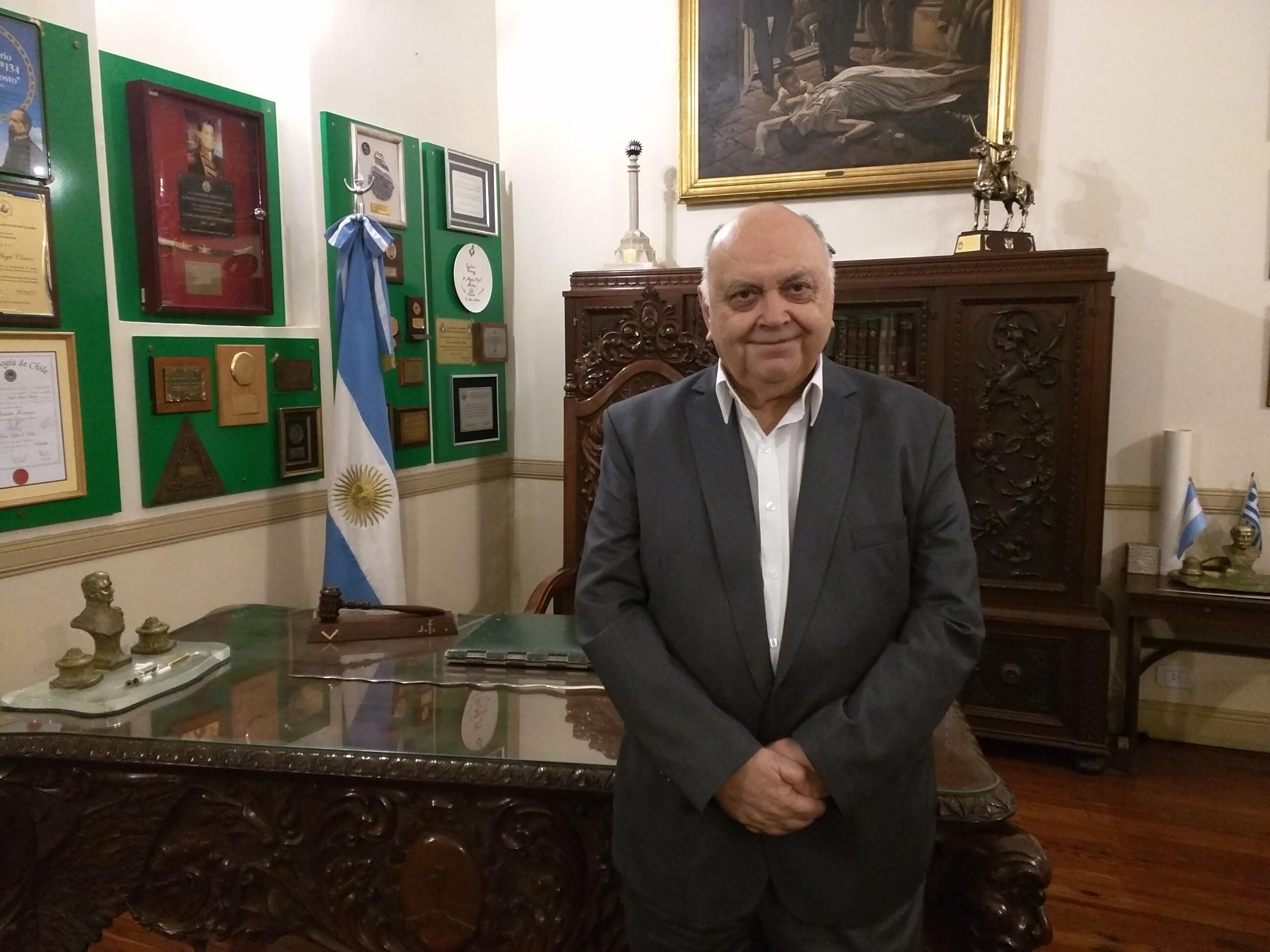 Ángel Jorge Clavero, actual Gran Maestre de la Argentina