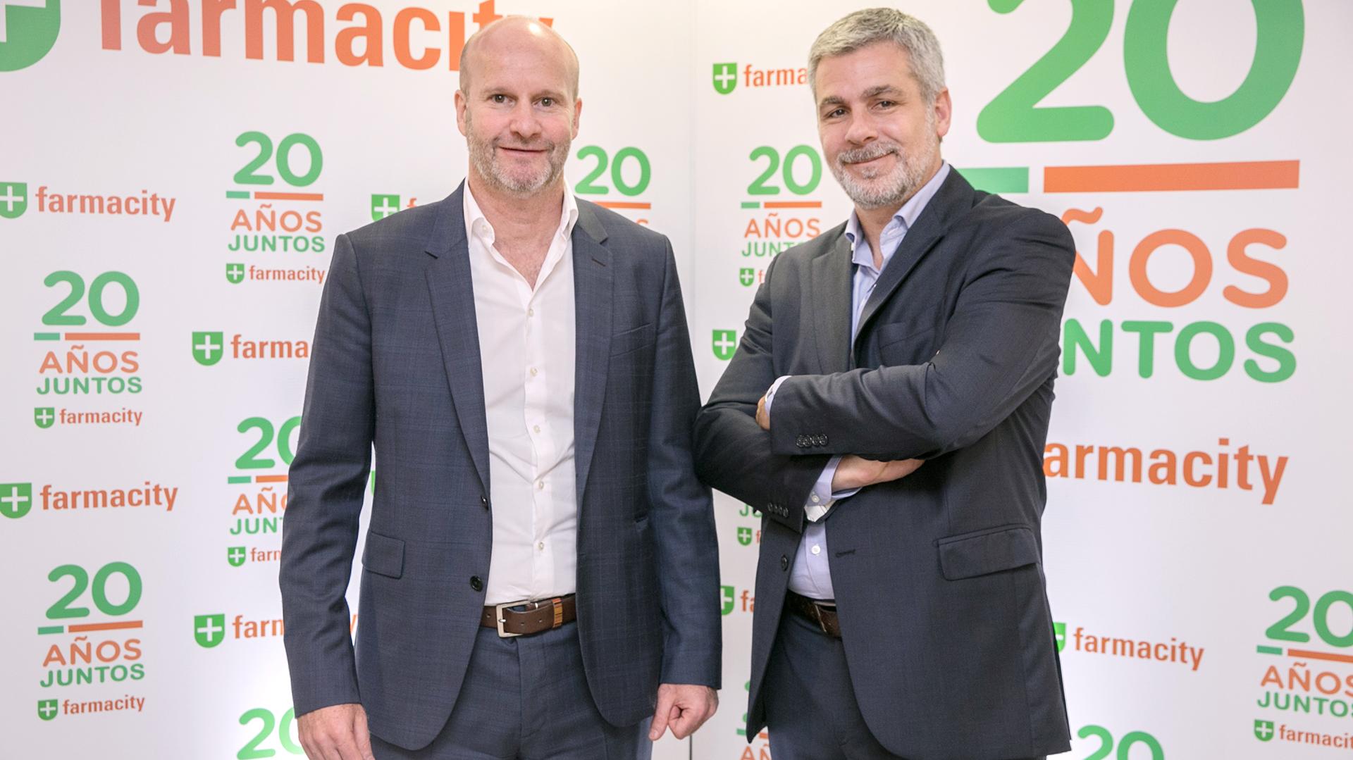 Alejandro Gorodisch presidente de Farmacity junto a Sebastian Miranda CEO 1920