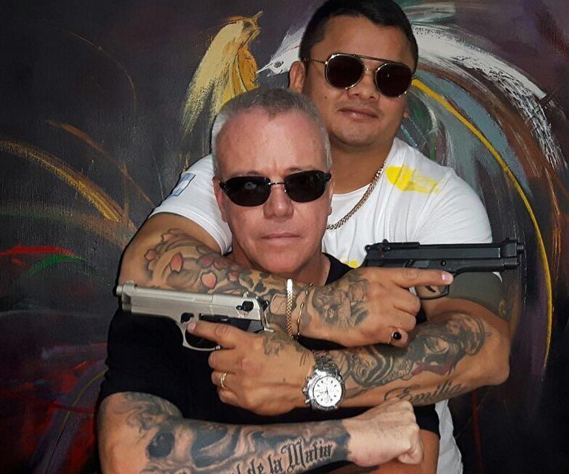 La foto del Chino Maianda con el sicario Popeye