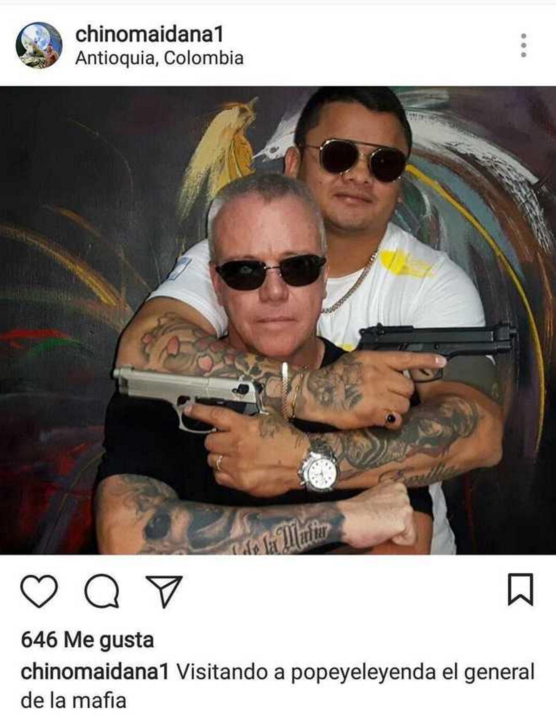 """""""El general de la mafia"""", la publicación que borró el Chino Maidana"""
