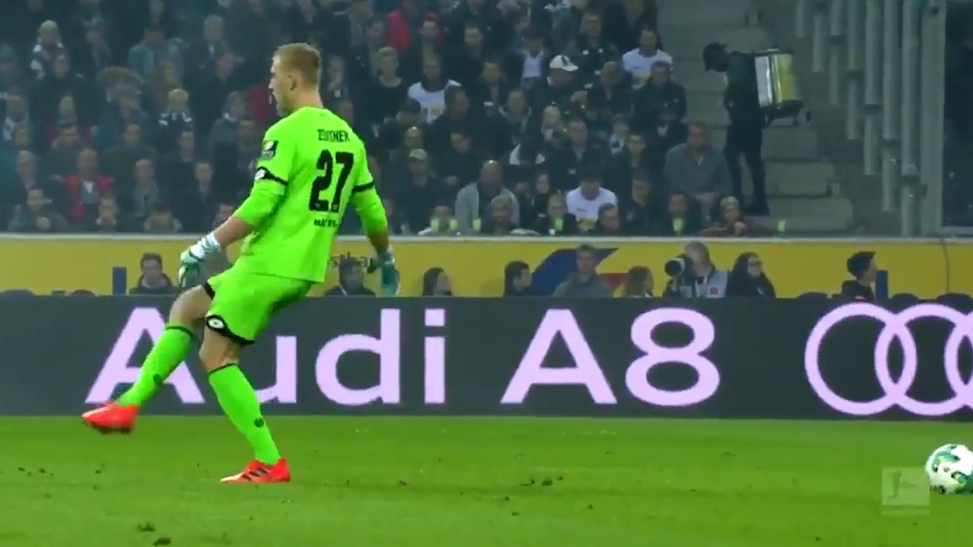 El mega fail de un portero en el futbol alemán