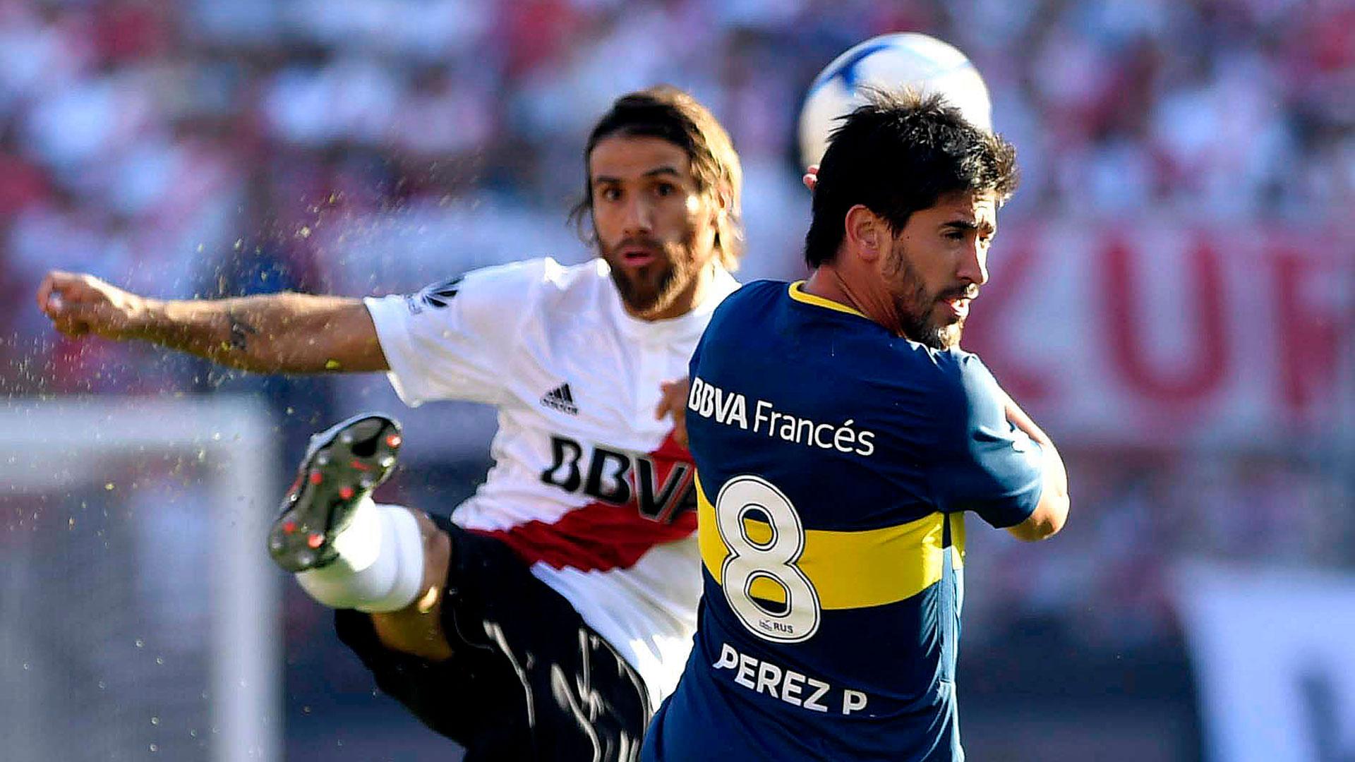 Leo Ponzio y Pablo Pérez, dos que no pueden faltar en River y Boca