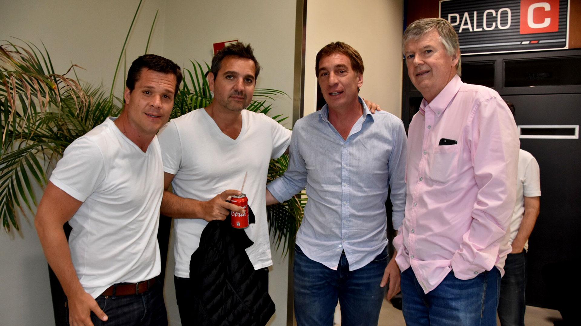 El vicejefe de Gobierno porteño, Diego Santilli, y el empresario Guillermo Stanley