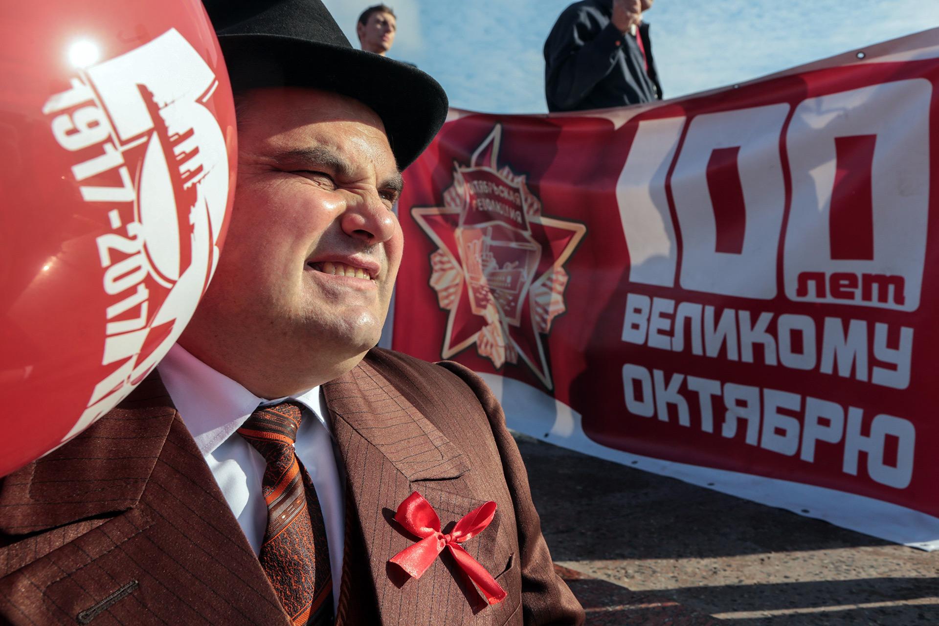 Los actos de celebración fueron organizados por el Partido Comunista de Rusia, que sigue siendo una fuerza política importante en el país (AFP)