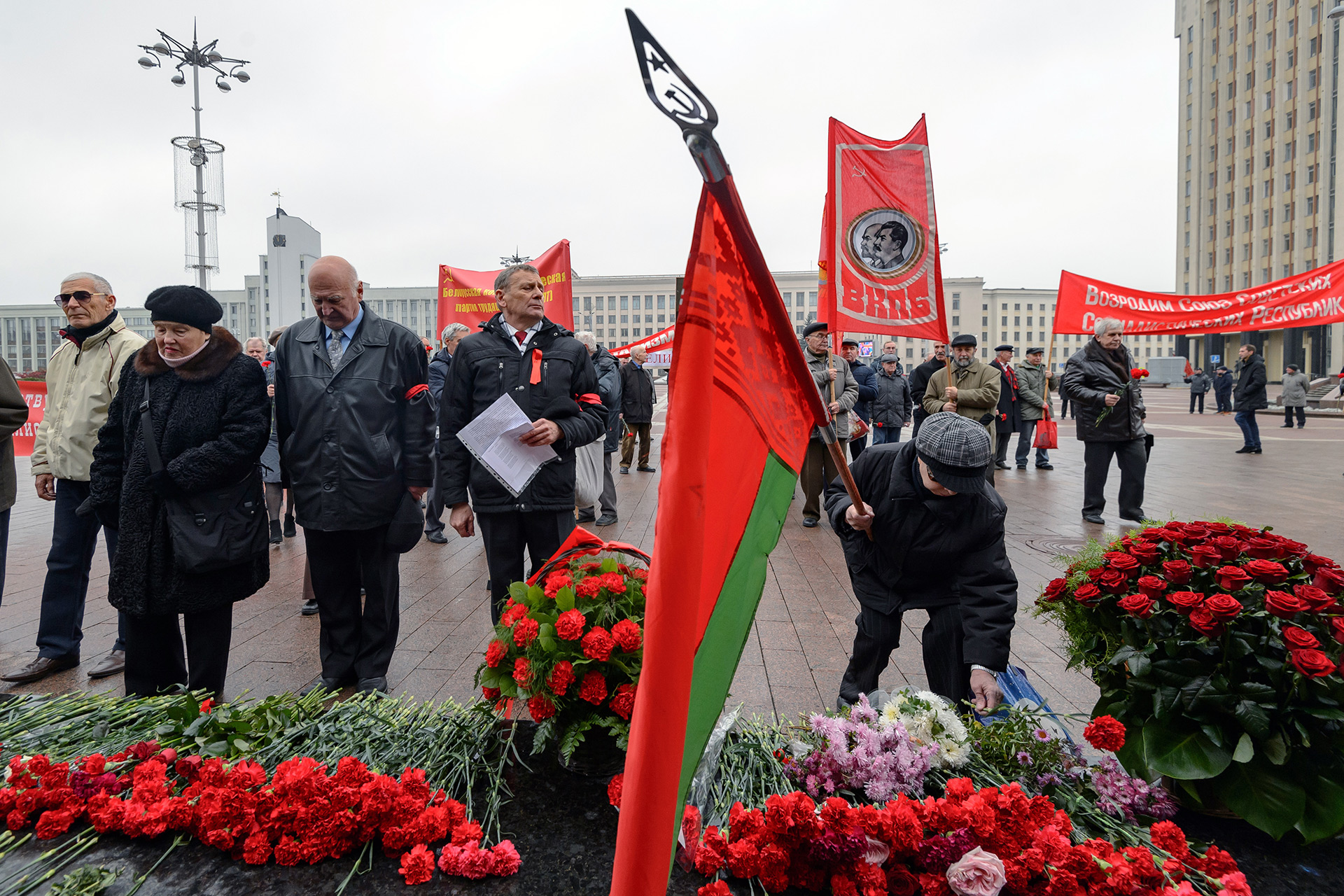 Este año los actos conmemorativos fueron muy modestos, a pesar del centenario (AFP)