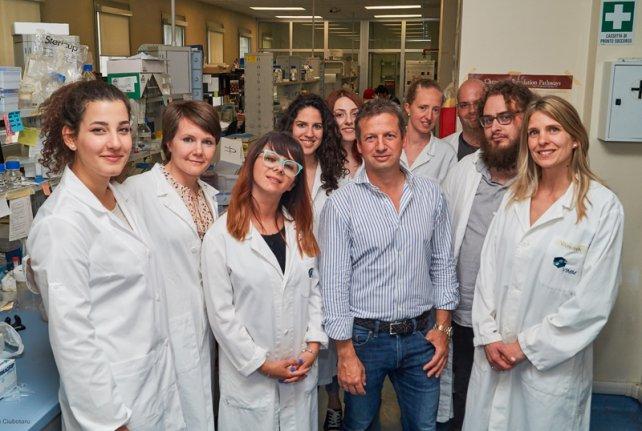 Vanina Romanello junto al equipo de investigadores liderado por Marco Sandri y Luca Scorrano