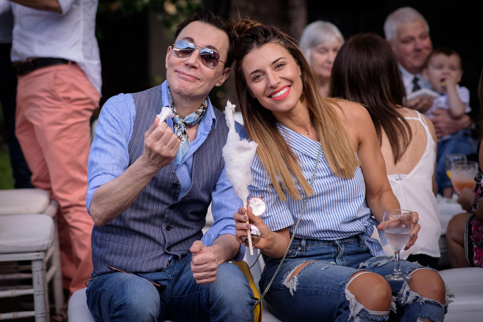 Marcelo Polino y Mariana Brey.