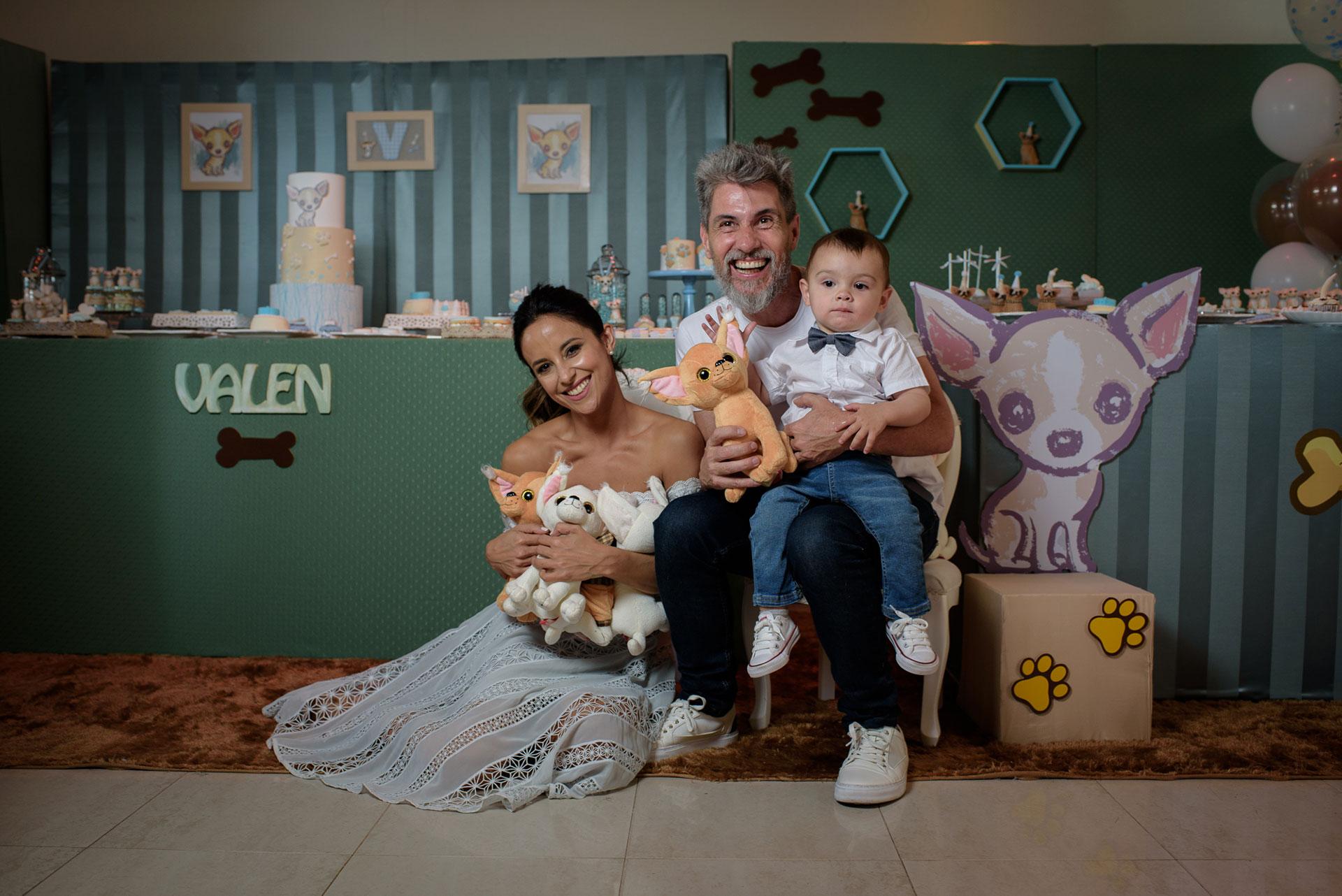 Lourdes Sánchez y el Chato Prada festejaron el primer añito de su hijo Valentín con una gran celebración en el Tattersall de Palermo para más de cien invitados