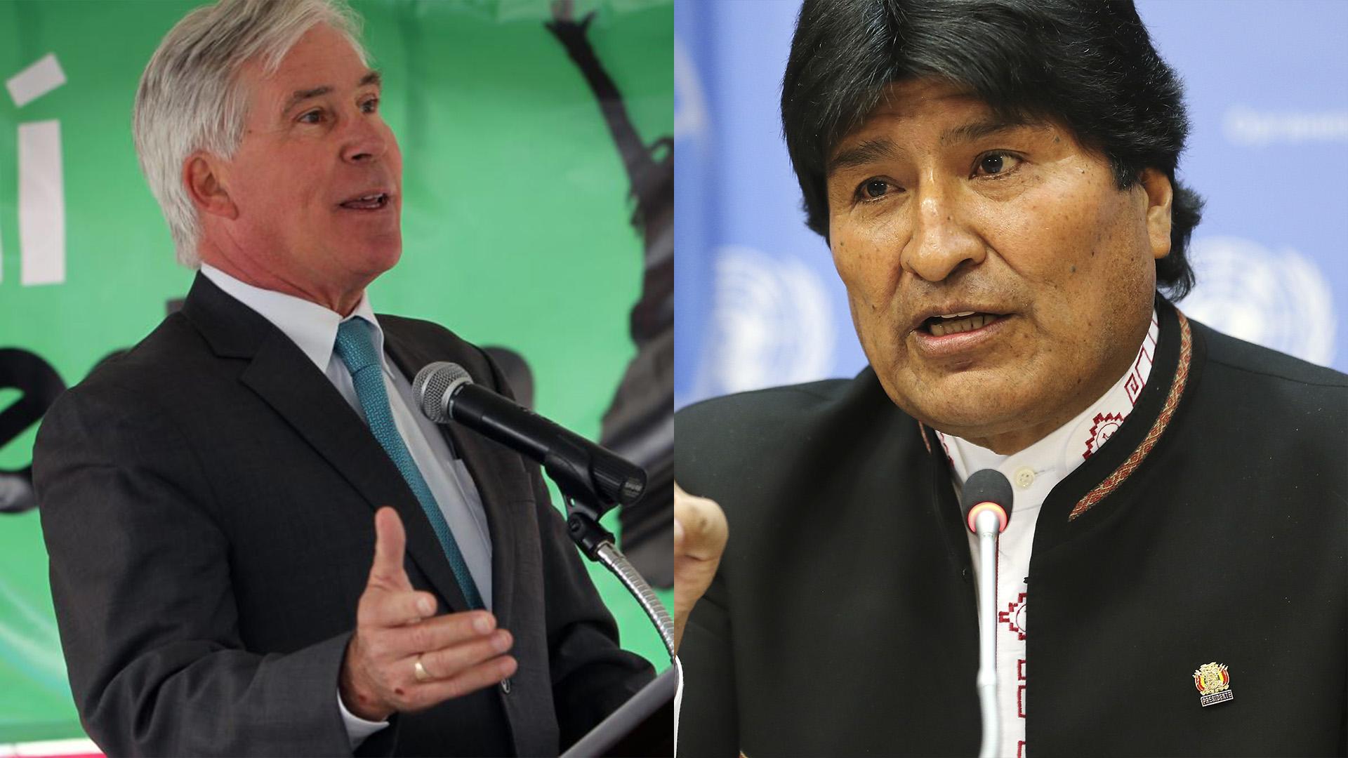 Peter Brenan y Evo Morales
