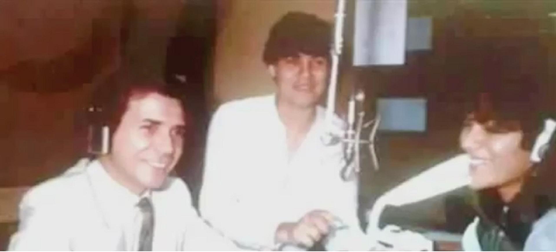 Marcelo Tinelli, en sus inicios en la radio junto a Juan Alberto Badía