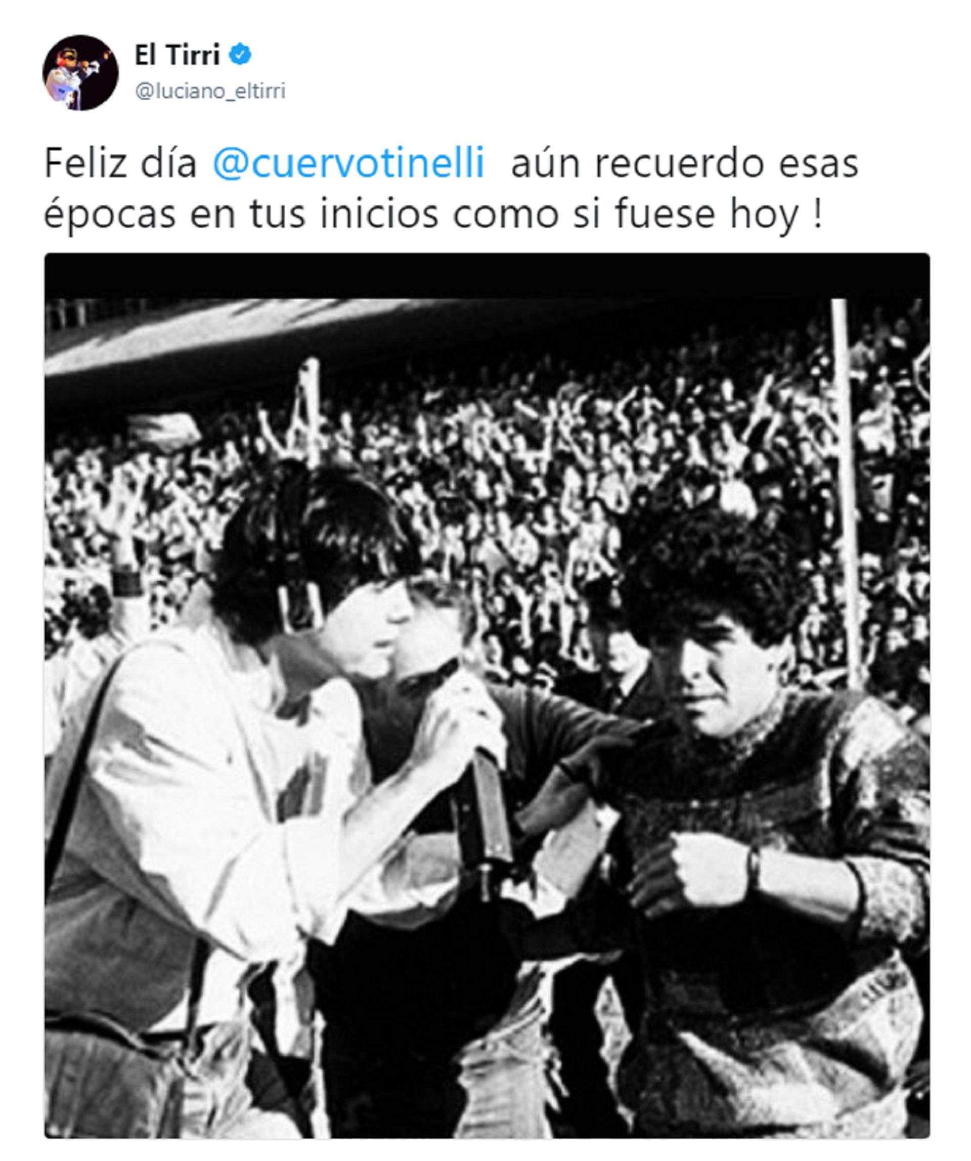 Tinelli entrevistando a Maradona