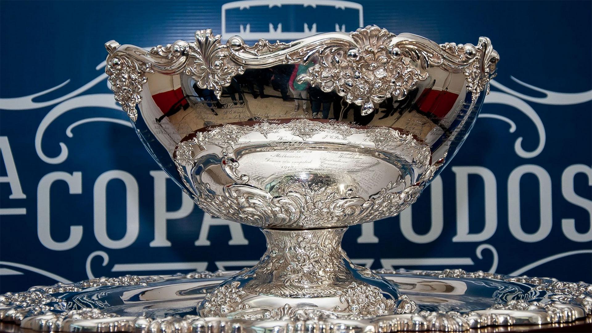 El trofeo que otorgala Copa Davis
