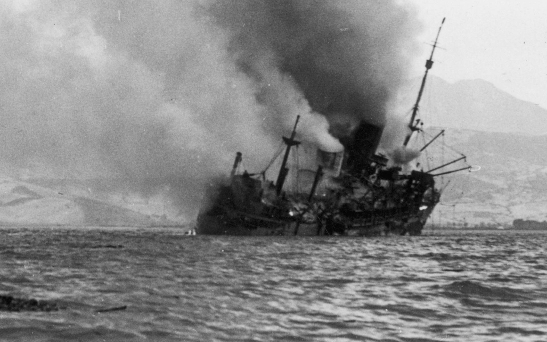 La Luftwaffe alemana hundió numerosos barcos durante la operación(Hulton Archive/Getty Images)