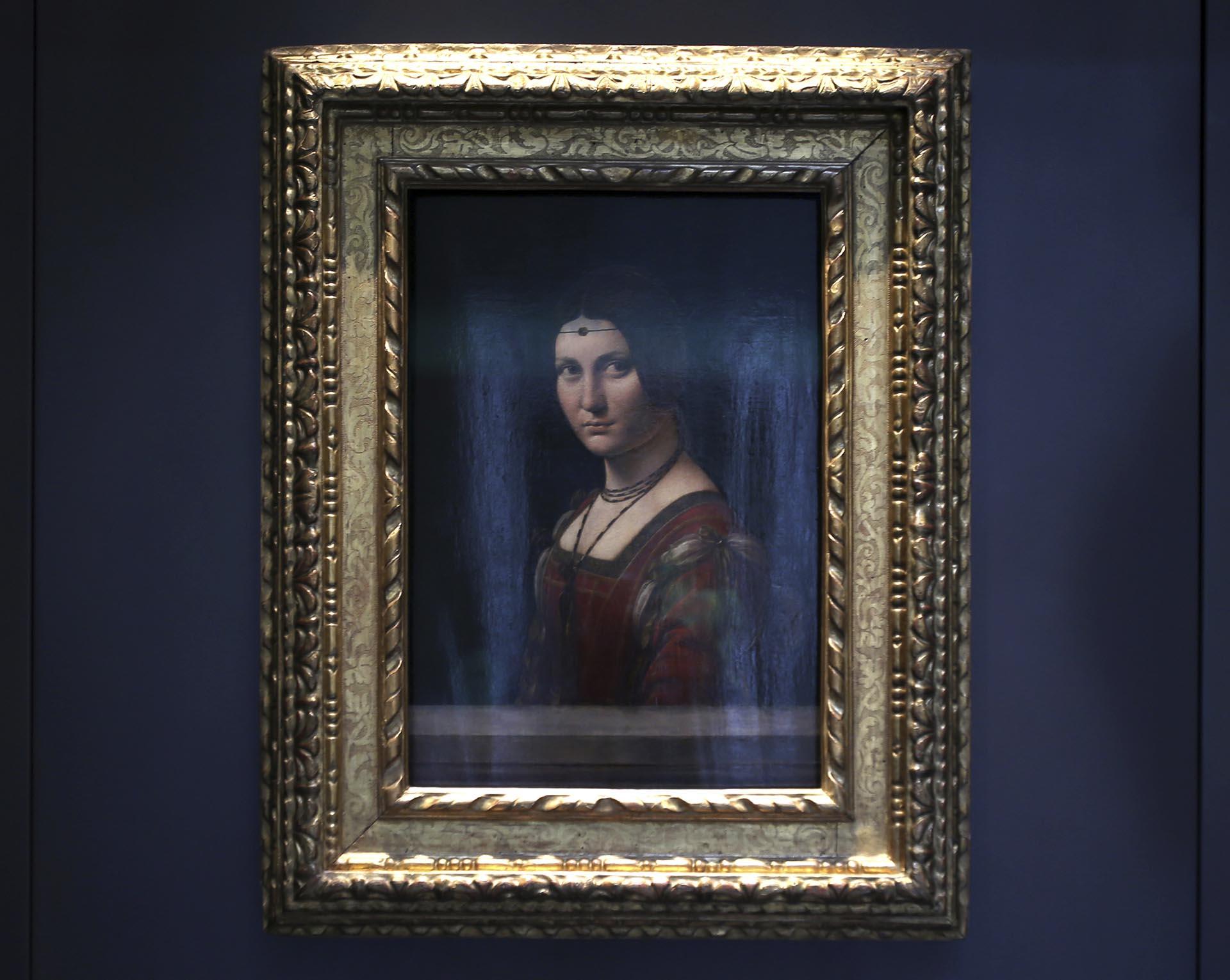 """""""Retrato de una mujer"""", de Leonardo da Vinci, una de las obras del Louvre de Abu Dhabi"""