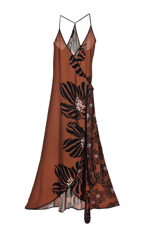 Vestido de gasa estampado ($ 3.200, Vitamina).