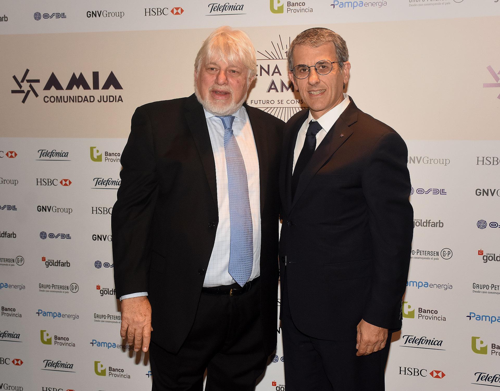El presidente del Congreso Judío Latinoamericano, Adrián Werthein, y Agustín Zbar