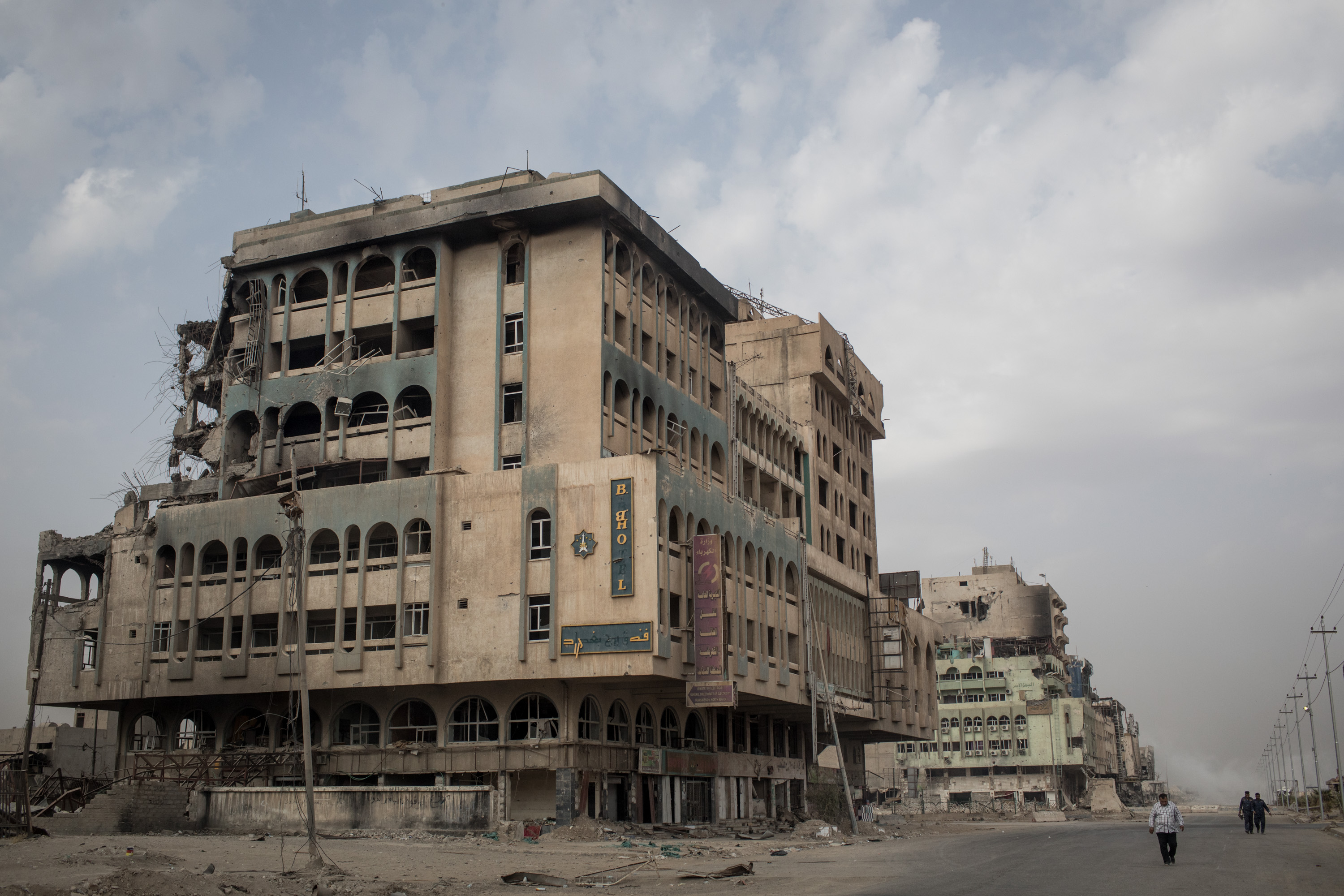 El destruido hotel Baghdad, en la zona oeste de la ciudad (Chris McGrath/Getty Images)