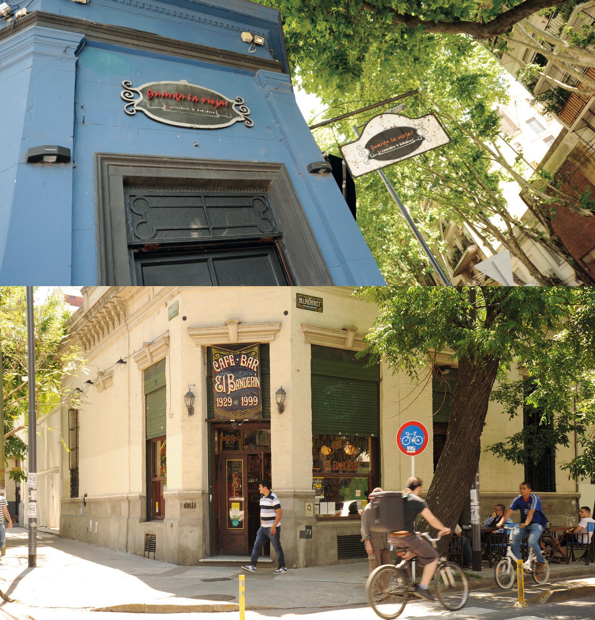 Guarda La Vieja y El Banderín, dos íconos del nuevo y el viejo Almagro.Fotos Ariel Gutraich.