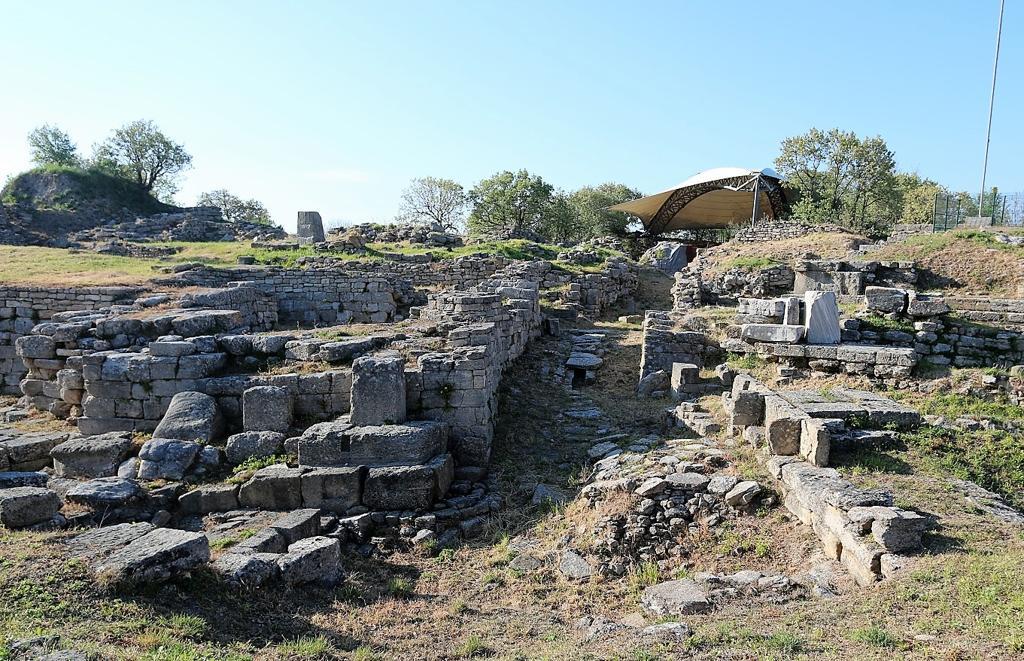Las ruinas de la ciudad de Troya en Canakkale, Turquía.