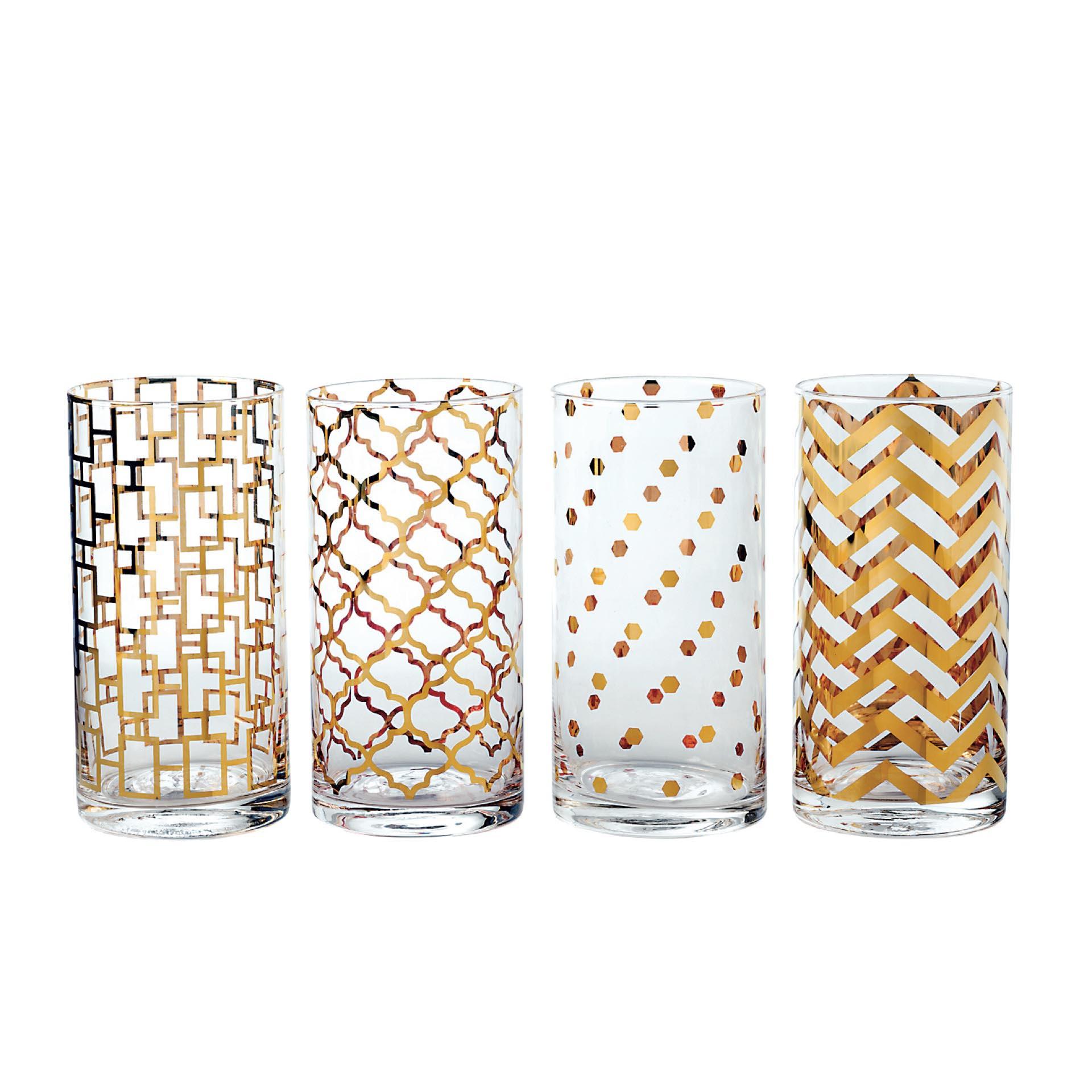 10. Set de 4 vasos altos ($ 590).