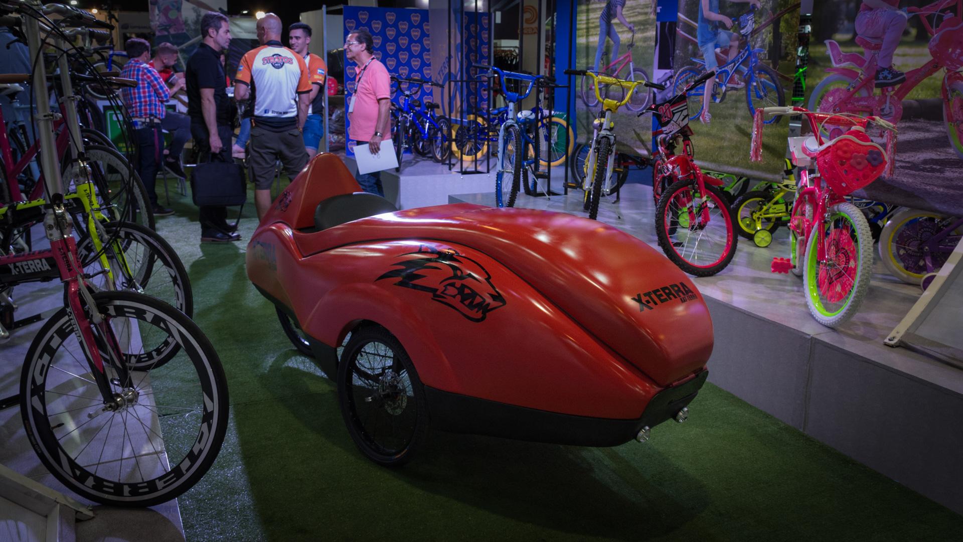 El triciclo sustentable es una de las figuras destacadas de la expo