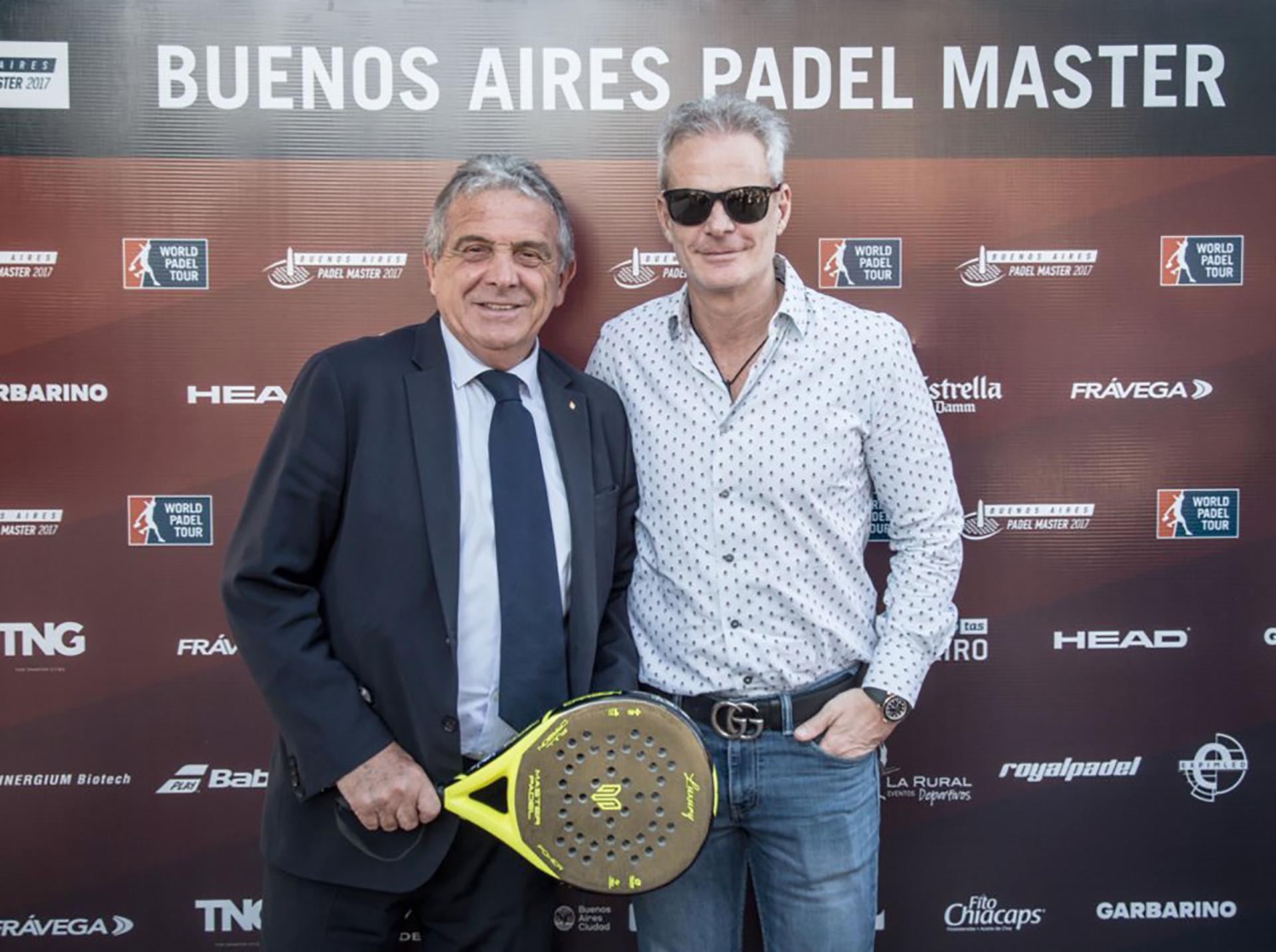 Oscar Nicastro, presidente del Padel APA, y Hernán Nisenbaum