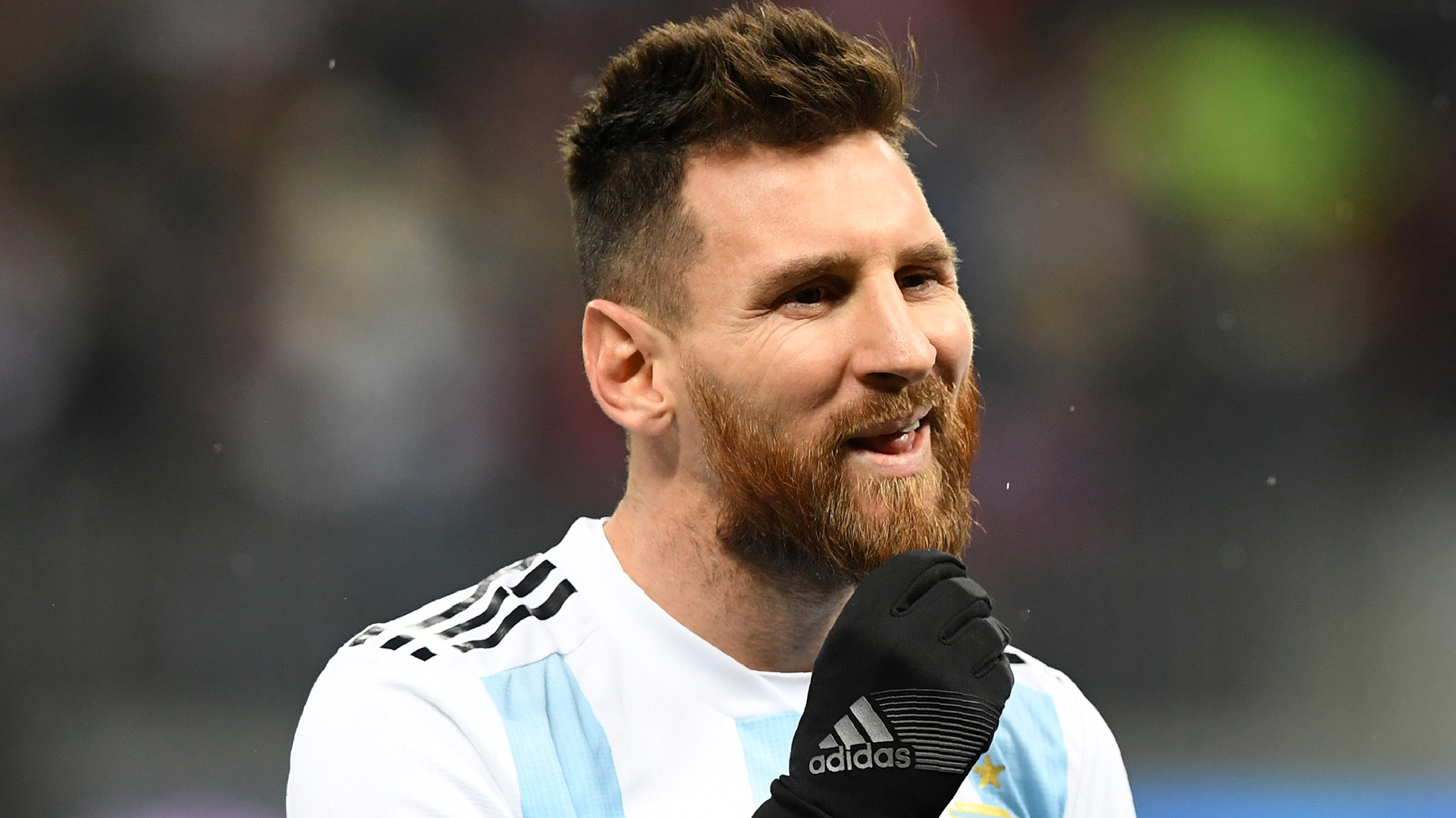 Argentina Flag With Messi 2017